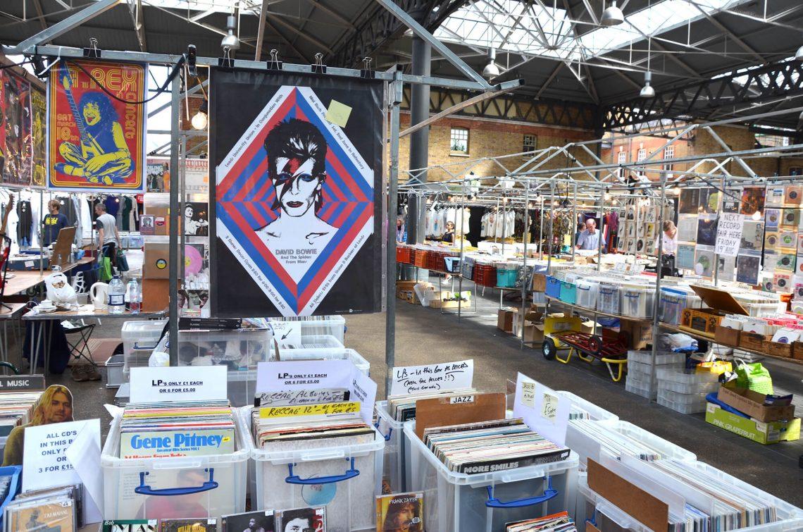 Foire aux disques du Old Spitalfields market à Londres