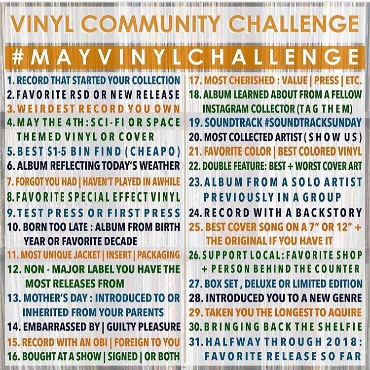 Le challenge vinyle du mois de mai